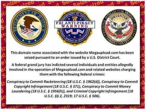 Сообщение о закрытии сайта властями