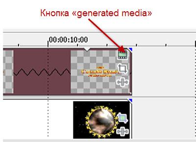 Кнопка «generated media»