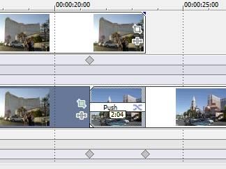 Рисунок14. Ключевые кадры в начале и конце видеоперехода