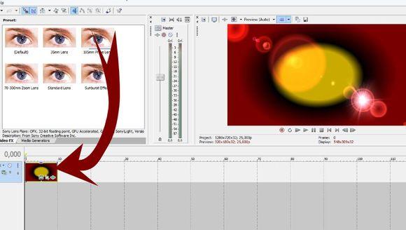 Применяем видеоэффект к фону